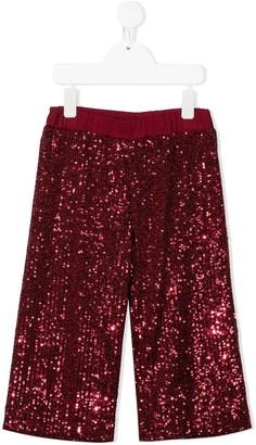 Piccola Ludo Embroidered Straight-Leg Trousers