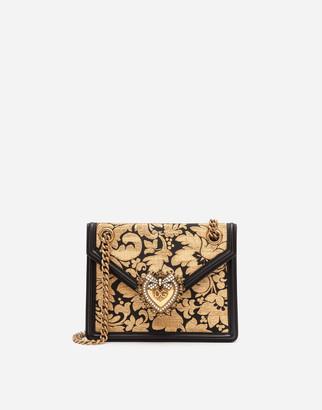 Dolce & Gabbana Medium Floral Jacquard Lurex Devotion Bag