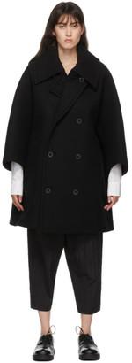 Fumito Ganryu Black Wool Vintage Coat