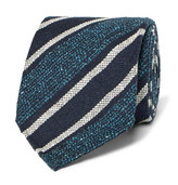 Dunhill - 8cm Striped Mulberry Silk-blend Tie