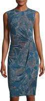 Nic+Zoe Broken Pottery Front-Twist Dress, Multi