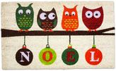 J&M Home Fashions 18-Inch x 30-Inch Noel Owls Christmas Door Mat