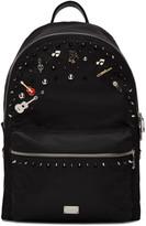 Dolce & Gabbana Black Studs & Pins Backpack