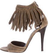 Bottega Veneta Fringed Intrecciato Sandals