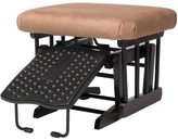 Dutailier Ultramotion Ottoman for Sleigh and 2-post Gliders in Espresso Finish Light Brown Fabric
