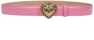 Dolce & Gabbana Belt Devotion In Leather Lux