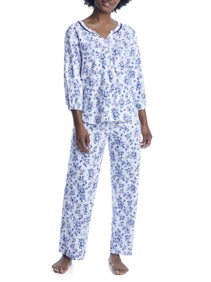 Karen Neuburger Floral Knit Pajama Set