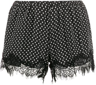 Gold Hawk Star Print Silk Shorts