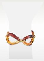 Murano Antica Murrina Broadway - Iridescent Glass Link Chain Bracelet