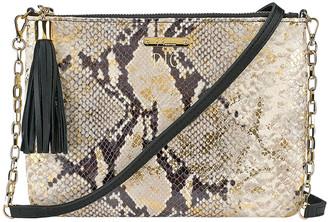 GiGi New York Chelsea Python-Embossed Crossbody Bag