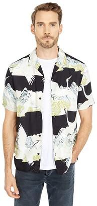 AllSaints Soaring Short Sleeve Shirt (Jet Black) Men's Clothing