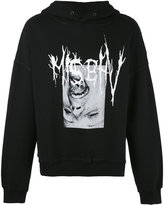 Misbhv - face print hoodie - men - Cotton/Polyamide - XS