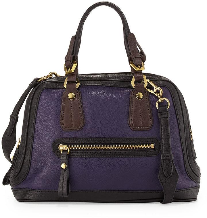 Oryany Kendall Tonal Leather Satchel Bag, Purple Multi