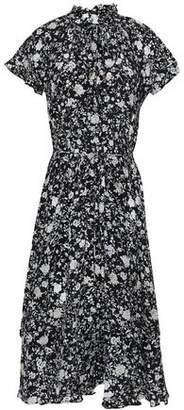Zimmermann Ruffled Floral-print Silk Crepe De Chine Dress
