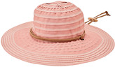 San Diego Hat Company Women's Fedoras ROSE - Rose Chin-Cord Ribbon Floppy Hat