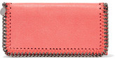 Stella McCartney Chain-Trimmed Faux Brushed-Leather Wallet