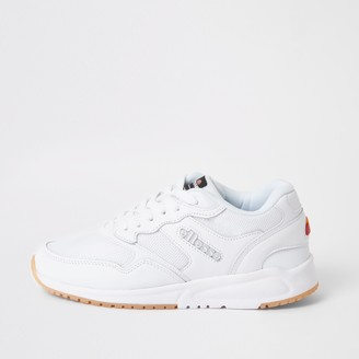 Ellesse River Island Womens NYC84 White lace-up trainers