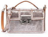 Lanvin Jiji Small Leather Box Bag, Silver