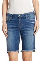Joe's Jeans Frayed Step Hem Denim Bermuda Shorts