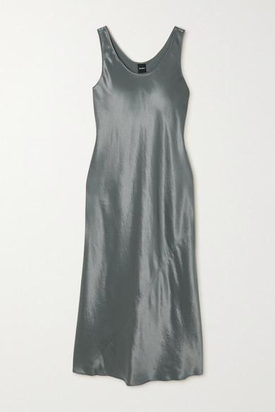 Max Mara Leisure Satin Midi Dress - Light green