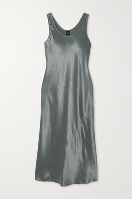Max Mara Leisure Satin Midi Dress - Light green