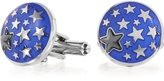 Forzieri Lumiere Blue Enamel Brass Cufflinks