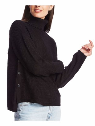 1 STATE Womens Black Long Sleeve Turtle Neck Sweater Size: S
