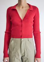 Which We Want Women's Campbell Knit Cardigan Sweater in Poppy Red, Size Extra Small