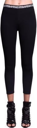 DSQUARED2 Double Logo Cotton Jersey Leggings