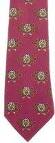 Hermes Silk Drum Print Tie