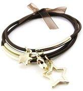Les Trésors De Lily Bracelet 'Stars' golden brown.