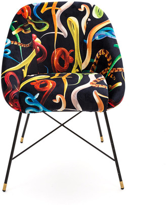 Seletti Wears Toiletpaper wears Toiletpaper - Upholstered Padded Chair - Snakes