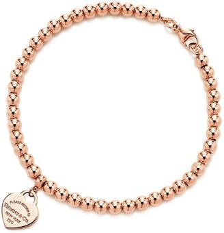 Tiffany & Co. Return to TiffanyTM Heart Tag Bead Bracelet in Rose Gold, 4 mm