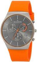 Skagen Men's SKW6074 Balder Orange Titanium Silicone Watch
