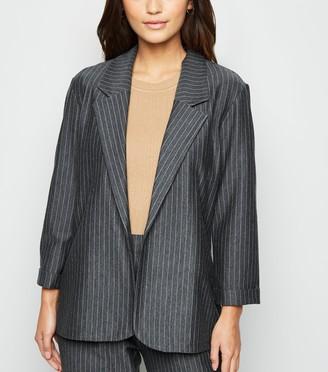 New Look Petite Pinstripe Long Jersey Blazer