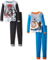 Star Wars Boys' 2pk Bb-8 and Captain Phasma Pajama Set