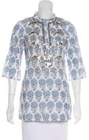 Figue Printed Sequined Tunic