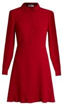 RED Valentino Long-sleeved crepe mini dress
