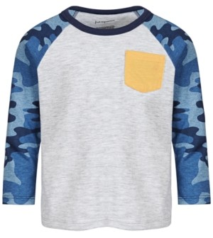 First Impressions Baby Boys Camo-Sleeve Pocket T-Shirt, Created for Macy's