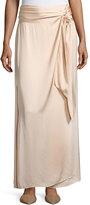 Elizabeth and James Almeria Wrap-Tie Maxi Skirt W/ Slit, Blush