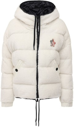 MONCLER GRENOBLE Hooded Faux Fur Down Jacket