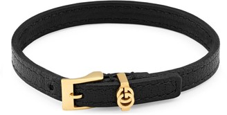 Gucci Double G leather bracelet
