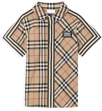 Burberry Little Boy's & Boy's Barrett Iconic Print Button-Front Shirt