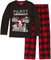 Arizona 2-pc. Party Animals Pajama Set Boys