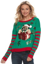 """It's Our Time Juniors' Pugs and Kisses"""" Ugly Christmas Sweater"""