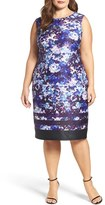Adrianna Papell Plus Size Women's Neoprene Sheath Dress