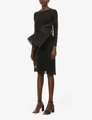 Omer Asim Dishevelled high-waisted stretch-crepe midi skirt