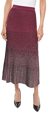 Misook Shimmer Ombre Knit Fit & Flare Skirt