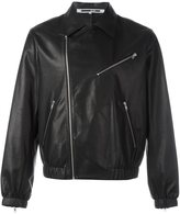 McQ by Alexander McQueen classic collar leather jacket