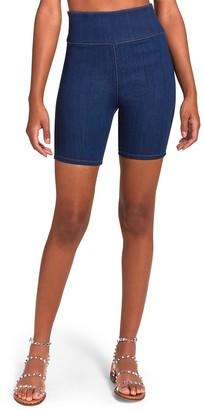 Steve Madden Denim Biker Shorts Blue